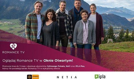 """ROMANCE TV w """"otwartym oknie"""" w CYFROWYM POLSACIE,NETII i serwisie IPLA"""